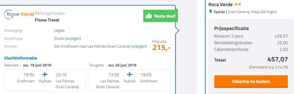 Screenshot vakantie Gran Canaria