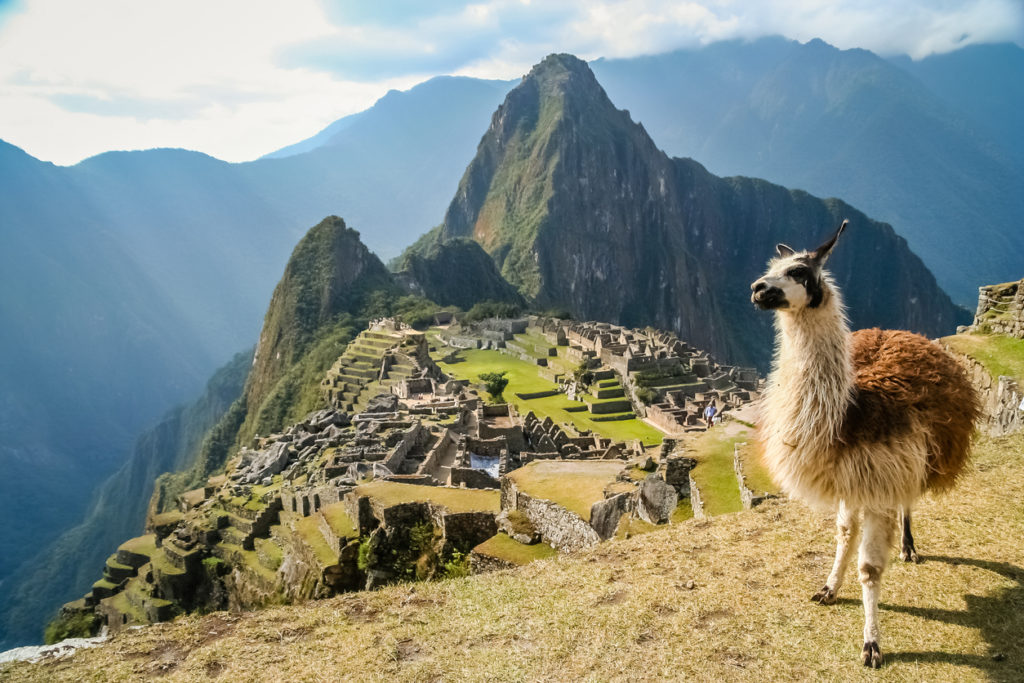Machu Pichu nabij Lima in Peru