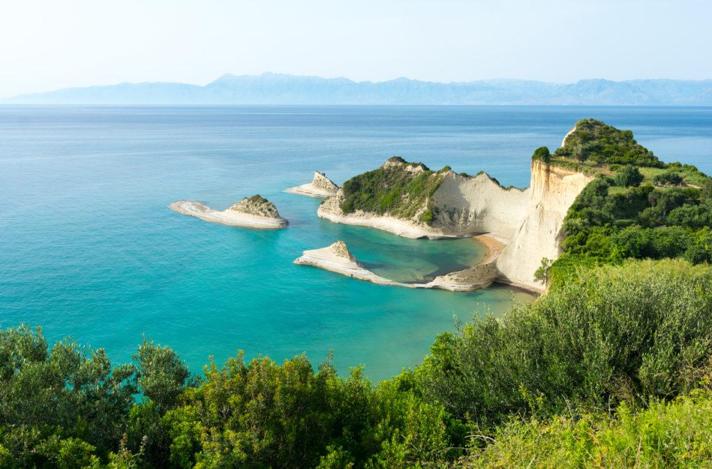 Foto van eiland Corfu