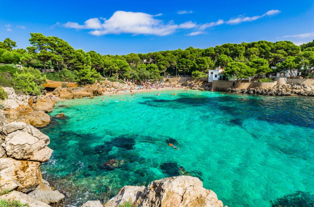 Foto baai, strand Mallorca