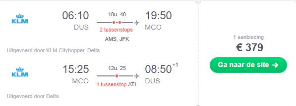 KLM Ameriika Ticket