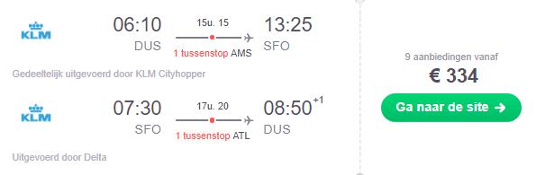 KLM Amerika Ticket