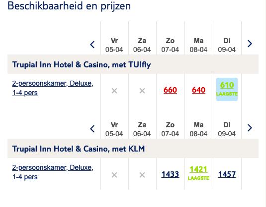 screenshot Curaçao vakantie