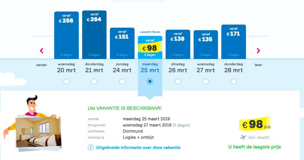 screenshot goedkope city trip naar krakau