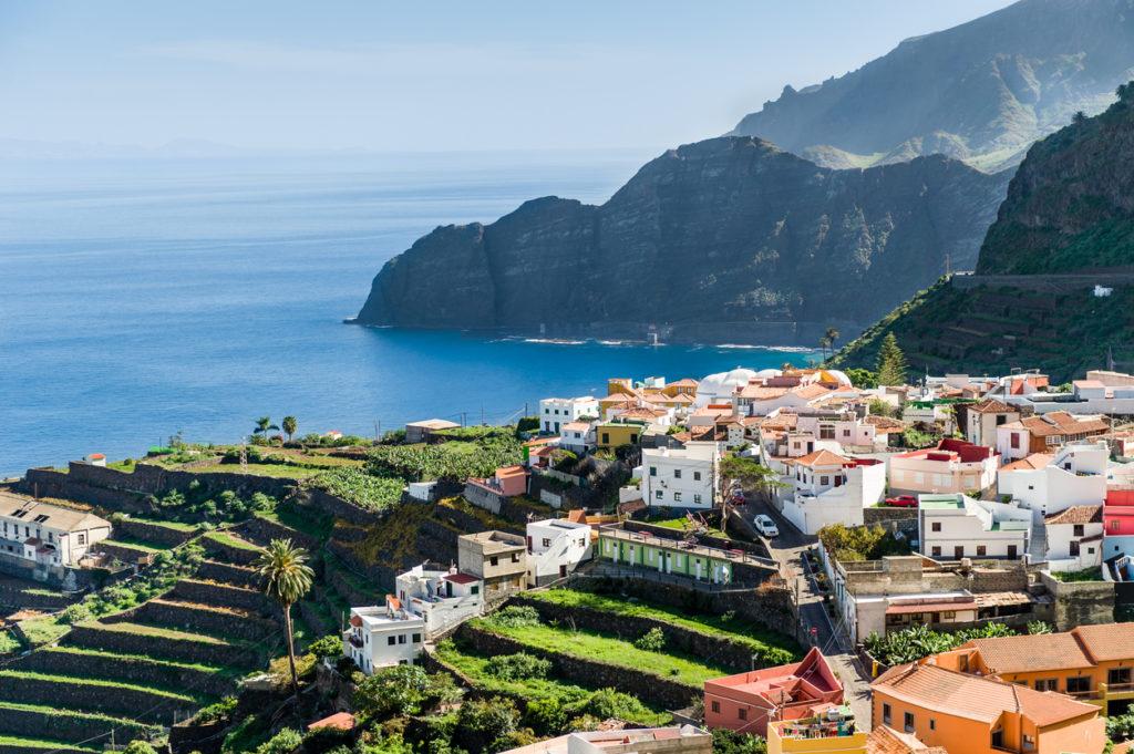Prachtig uitzicht op Tenerife tijdens zomervakantie