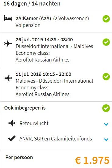 Malediven vakantie