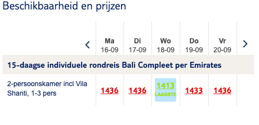 screenshot droomreis naar Bali