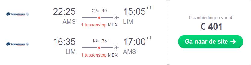 Peru retourtickets