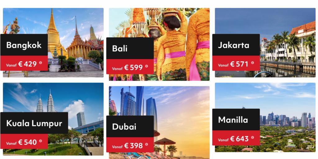 Check snel de prijzen voor de Emirates Ticket Sale