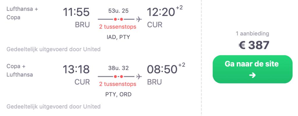 Check snel de prijzen naar Curaçao