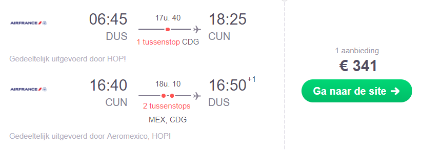 KLM-Partner Retourtickets Cancun