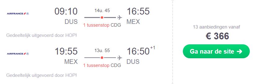 Mexico Retourtickets