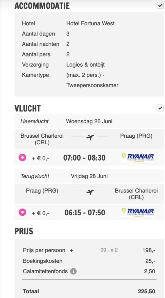 Check snel de prijzen naar Praag