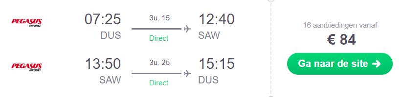 KLM-Partner Istanbul retourtickets