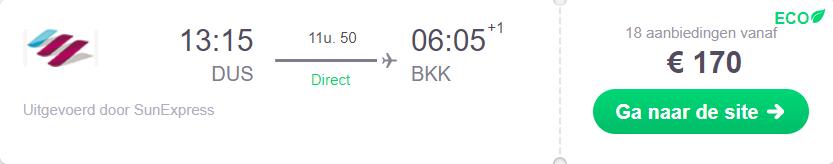 Vliegticket direct Bangkok