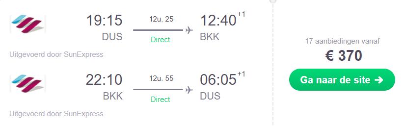 Vliegticket Bangkok direct