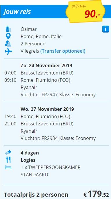 City Trip naar Rome