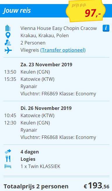 City Trip naar Krakau