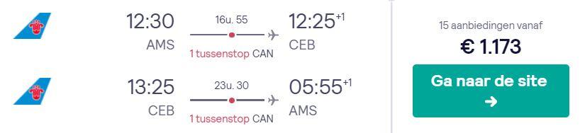 China Southern Business Class Tickets naar Cebu v/a 1173