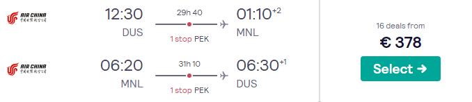 KLM-partner retourtickets naar de Filipijnen