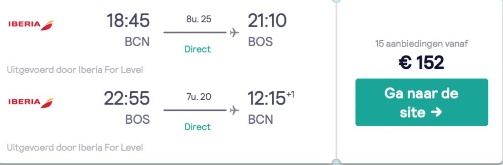 Check snel de prijzen voor de vliegticket naar Boston