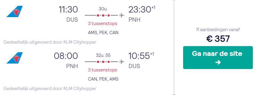 China Southeren Tickets naar Cambodja v/a 357