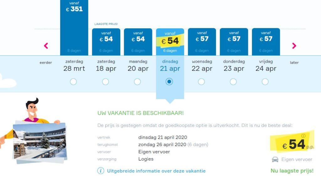 wintersportvakantie naar Oostenrijk v/a 54