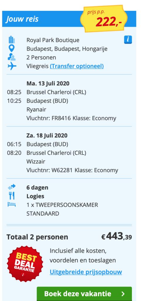 Check snel de prijzen naar Budapest