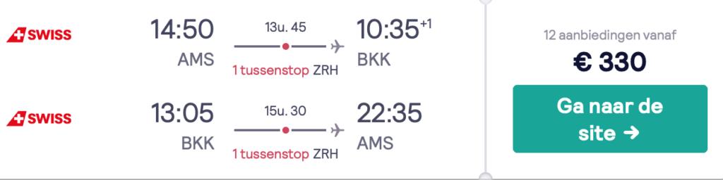 Check snel de prijzen naar Bangkok